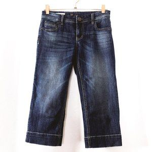 Kut from the Kloth Natalie Crop Womens 0 Blue Jean